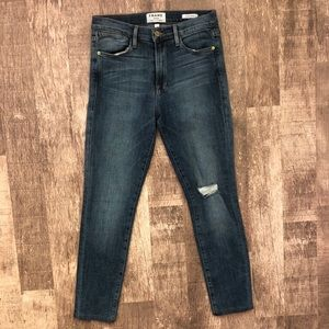 Frame Le High Skinny Jean Distressed